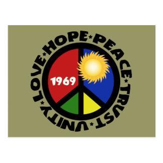 Hope Peace Love Trust Unity Postcard