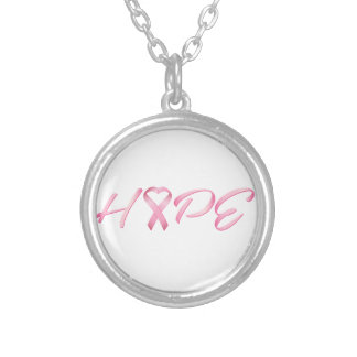 Hope Pink Cancer Ribbon Necklace