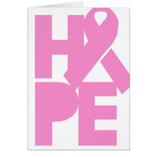 Hope Pink Ribbon Card