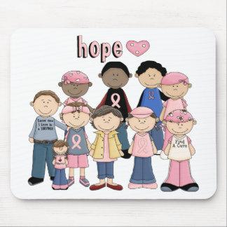 Hope Pink Ribbon Mouse Pad