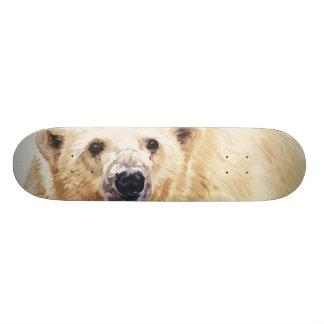 """Hope"" Polar Bear Wildlife Watercolor Art Skateboards"