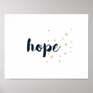 Hope Poster - White