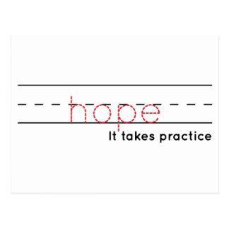 hope | Practice Postcard