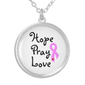 Hope Pray Love Breast Cancer Awareness Necklace