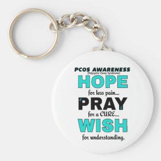 Hope Pray Wish...PCOS Basic Round Button Keychain