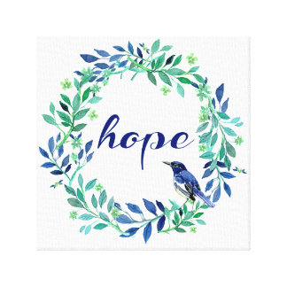 Hope Quote Zen Style Canvas Print