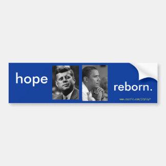 HOPE REBORN OBAMA JFK BUMPER STICKER