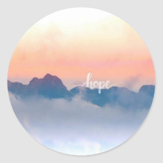 Hope round matte sticker