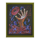 Hope - Sickle Cell Art Canvas Print Green