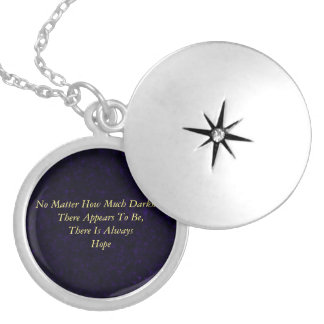 Hope (Silver Plated purple version) Silver Plated Necklace