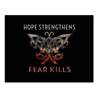 Hope Strengthens | Fear Kills Postcard