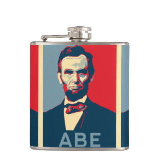 Hope Style Lincoln Portrait Flask