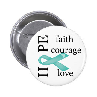 Hope (Teal) 2 Inch Round Button