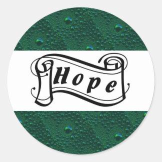 Hope the Green rain drop sample is green Round Sticker