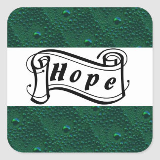 Hope the Green rain drop sample is green Square Sticker