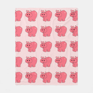 Hope the Hippo - Kids Fleece Blanket