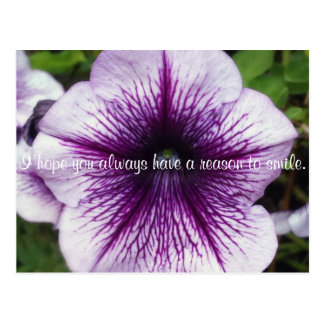 Hope to Smile Flower Inspirational Postcards