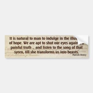 Hope v Painful Truth (Henry) Bumper Sticker
