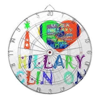 Hope Vote Blue  Lovely Reflection Amazing Hillary Dartboards