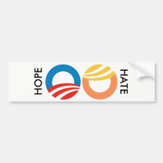 Hope vs. Hate Bumper Sticker
