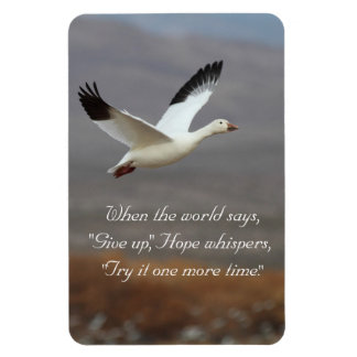 Hope whispers try it one more time rectangular photo magnet