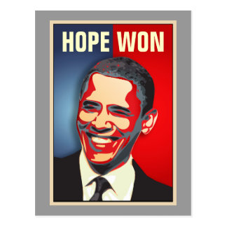 Hope Won - Barack Obama Postcard