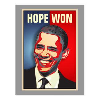 Hope Won - Barack Obama Postcard