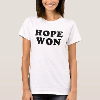 Hope Won Obama Victory T shirt
