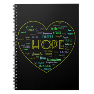 Hope word art notebook