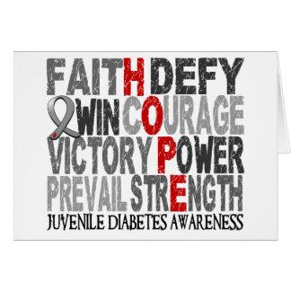Hope Word Collage Juvenile Diabetes Card