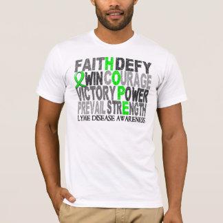 Hope Word Collage Lyme Disease T-Shirt