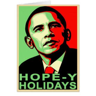 """Hope-y Holidays"" Obama Christmas Card"