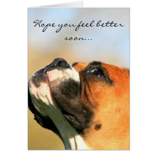 Hope you feel better Boxer Dog Greeting Card