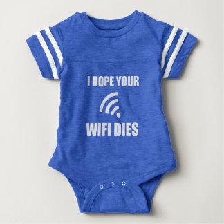 Hope Your Wifi Dies Baby Bodysuit