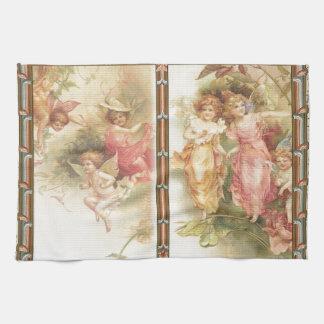 Hopeful - Angels & Flowers Kitchen Towel