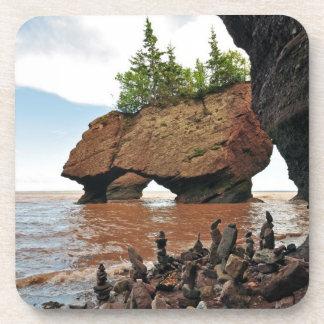 Hopewell Flowerpot Rocks New Brunswick Coasters