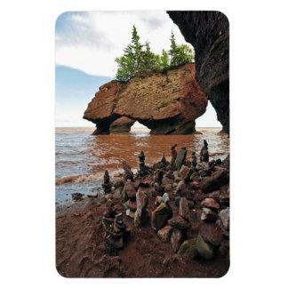 Hopewell Flowerpot Rocks New Brunswick Flex Magnet