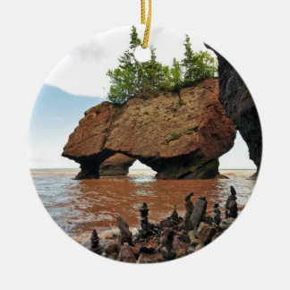 Hopewell Flowerpot Rocks New Brunswick Ornament