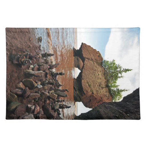 Hopewell Flowerpot Rocks New Brunswick Placemat