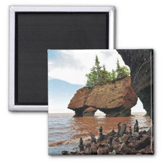 Hopewell Flowerpot Rocks Tide New Brunswick Magnet