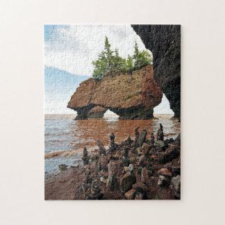 Hopewell Flowerpot Rocks Tide New Brunswick Puzzle