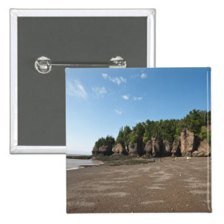 Hopewell Rocks and The Ocean Tidal Exploration 2 Inch Square Button