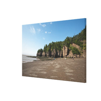Hopewell Rocks and The Ocean Tidal Exploration Gallery Wrapped Canvas