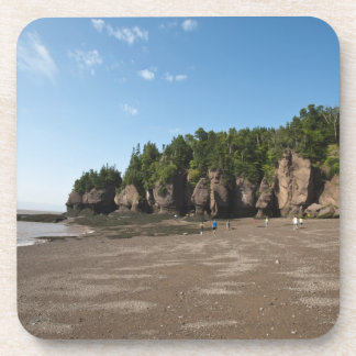 Hopewell Rocks and The Ocean Tidal Exploration Drink Coasters