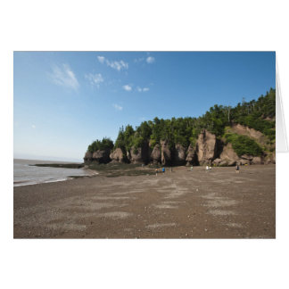 Hopewell Rocks and The Ocean Tidal Exploration Greeting Card