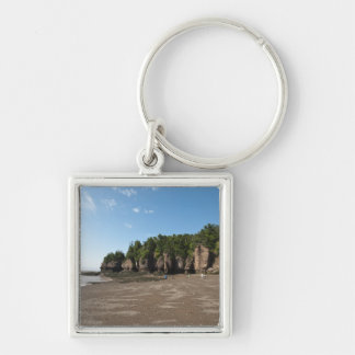 Hopewell Rocks and The Ocean Tidal Exploration Silver-Colored Square Keychain