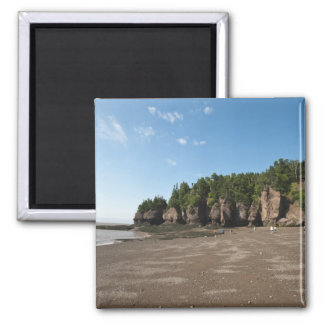Hopewell Rocks and The Ocean Tidal Exploration Square Magnet