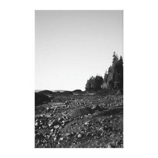 Hopewell Rocks - B W 1 Gallery Wrap Canvas