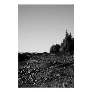 Hopewell Rocks - B&W 1 Print