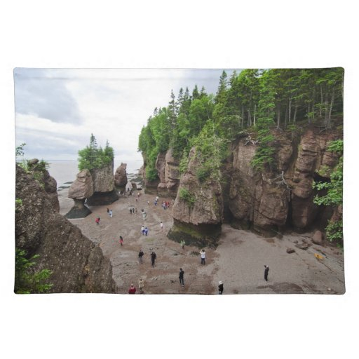 Hopewell Rocks Low Tide Canada Placemat